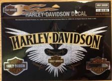 Buy Authentic Harley-Davidson W/ Bar & Shield, Chrome Decal -NEW - 1Large & 2 Minis