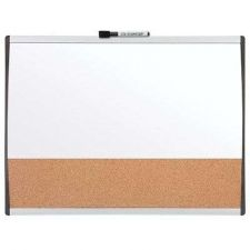 Buy Magnetic Combination Board 17x23 Inches Dry Erase And Cork Black Whiteboard Mark