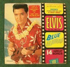 """Buy ELVIS PRESLEY ~ Blue Hawaii 1961 Rock & Roll LP / Sticker & """"Long Play"""""""