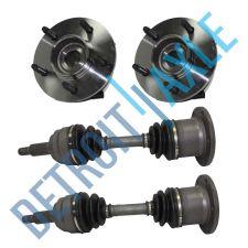 Buy 2 Axles #210 + 2 Wheel Hub Bearings 515029, 00-03 Ford F-150 5 LUG 4x4 w/ ABS