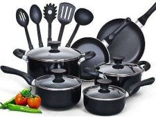 Buy Cookware Set Kitchen Home 15 Piece Nonstick Soft handle Oven Pan Casserol Tools