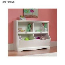 Buy Bookcase Dresser Footboard White Kids Bedroom Furniture Nursery Playroom Toybox