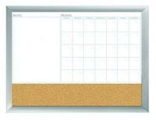 "Buy 18""x24"" Aluminum Framed Dry Erase Calendar Cork Whiteboard Marker Office Present"