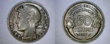 Buy 1937 French 50 Centimes World Coin - France