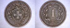 Buy 1929-B Swiss 1 Rappen World Coin - Switzerland