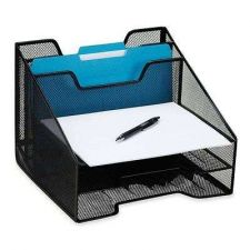 Buy Tray Mesh Storage Collection Office Desk Sorter Table Accessories Hold Papers W/
