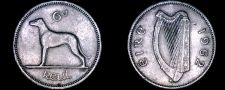 Buy 1962 Irish 6 Pence World Coin - Ireland - Wolfhound