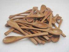 Buy SPOON WOODEN SUGAR, SALT, CREAM WOOD UTENSIL SMALL BROWN X 20 PIECES