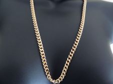 "Buy Necklace 18"" - 36"" 6mm solid18K Gold Layered Cuban Link Chain.Guarantee for life"