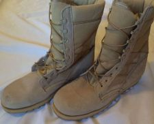 Buy Military Issue Boots! Men's Tan Army Work Boots.Size 11.