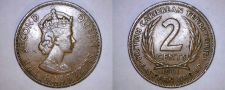 Buy 1961 East Caribbean States 2 Cent World Coin