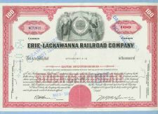 Buy New York Erie Stock Certificate Company: Erie-lackawana Railroad Company ~31