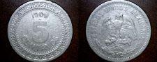 Buy 1909 Mexican 5 Centavo World Coin - Mexico