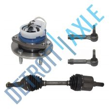 Buy Front Right CV Axle Shaft and Wheel Bearing Assembly w/ ABS + 2 Outer Tie Rods