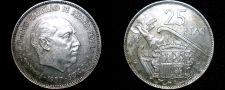 Buy 1957 (64) Spanish 25 Peseta World Coin - Spain Caudillo