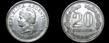 Buy 1957 Argentina 20 Centavo World Coin