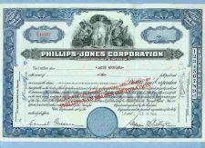 Buy New York na Stock Certificate Company: Phillips-Jones Corporation ~57