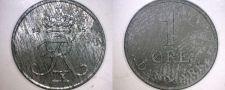 Buy 1965 Danish 1 Ore World Coin - Denmark