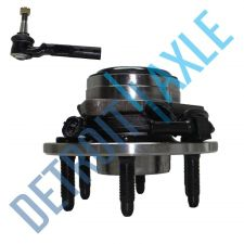 Buy NEW 2 pc Kit - Front Wheel Hub and Bearing Assembly + Outer Tie Rod End RWD Set