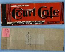 Buy New Mexico Albuquerque Full Length Matchcover Advertising Court Cafe New M~666