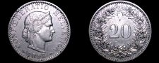 Buy 1893 Swiss 20 Rappen World Coin - Switzerland