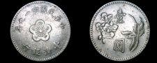 Buy 1960 YR49 Taiwan 1 Yuan World Coin - China Formosa