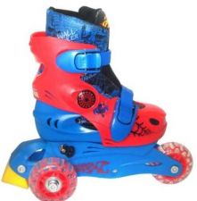 Buy Spider-Man 2 in 1 Training Skates Convertible From Trike Wheels to Inline NEW