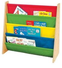 Buy Book Rack Kids School Office Space Wood Book rack Nylon Fabric Pockets children
