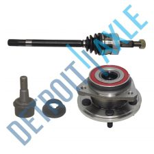 Buy 1 Front Driver CV Axle Shaft + 1 Wheel Hub Bearing Assembly + 1 Lower Ball Joint