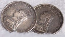 Buy Two(2) 1893 Great Britain 3 Pence World Silver Coins - Jewelry - Single Cufflink