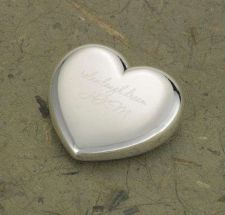 Buy Light-Hearted Love Silver Plated Heart Paper Weight - Free Personalization