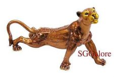 Buy Collectible RUCINNI Swarovski Crystals BeJeweled COUGAR Trinket BOX Wild Cats
