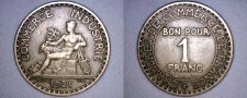 Buy 1921 French 1 Franc World Coin - France