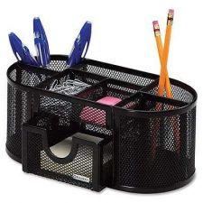 Buy Mesh Desk Storage Organizer Accessories Collection Office Paper Desktop Pens/