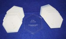 "Buy Mylar 4"" Hexagon Side to Side Measurement -51 Piece Set -Template-"