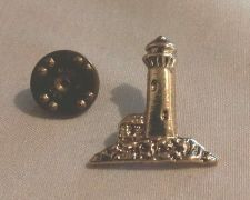 Buy Lighthouse Antiqued Goldtone Lapel Hat Pin