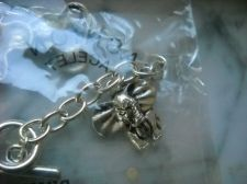 Buy Elephant head Charm bracelet detailed trunk up good luck