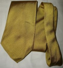 "Buy PERRY ELLIS Portfolio Mens Italian Silk Tie Textured Gold 3.75""x 56 1/2"""