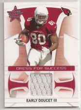 Buy NFL 2008 EARLY DOUCET LEAF RS ROOKIE GAME USED JERSEY CARD RC CARDINALS MNT