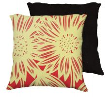Buy Pulcher 18x18 Yellow Red Black Pillow Flowers Floral Botanical Cover Cushion Case Thr