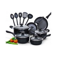 Buy NEW 15 piece Nonstick Pots and pan Cookware,easy clean,longlasting,