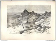 Buy CHINA - SPRING OF KHARMALI RIVER - engraving from 1882