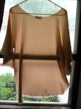 Buy Vintage Lucie Ann Dolman Batwing Satin Beige Evening Blouse Top Size L / XL EUC
