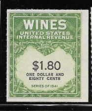Buy US Internal Revenue $1.80 Wine Tax Stamp RE151 Series 1941 Mint NH