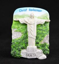 Buy 3D SCULPTURE FRIDGE MAGNET MEMORIAL PLACE CHRIST THE REDEEMER STATUE BRAZIL GIFT