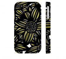 Buy Swearngin Yellow Black Iphone 4/4S Apple Phone Case Flowers Botanical