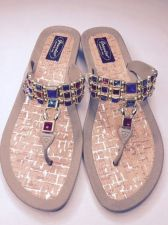 Buy Grandco Beaded Sandals Flip Flop Slides Women Thong Shoes Pools Beach Casual 7 8