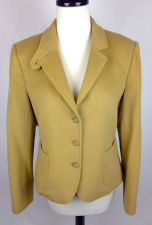 Buy J Crew Jacket L Womens Beige Wool Long Sleeve