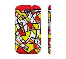 Buy Bratcher Yellow Red Black Samsung Galaxy S3 Phone Case