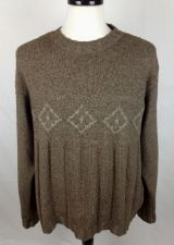 Buy Ermenegildo Zegna Sweater XXL Mens Brown Wool Long Sleeve